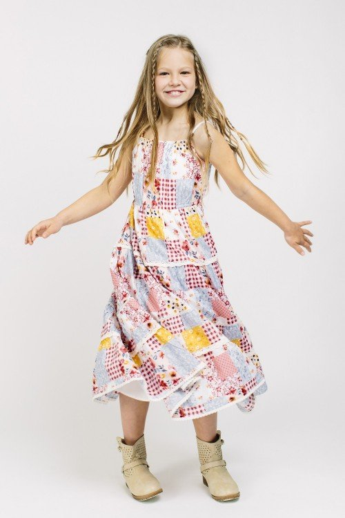 Girl´s printed Dress Vepatch